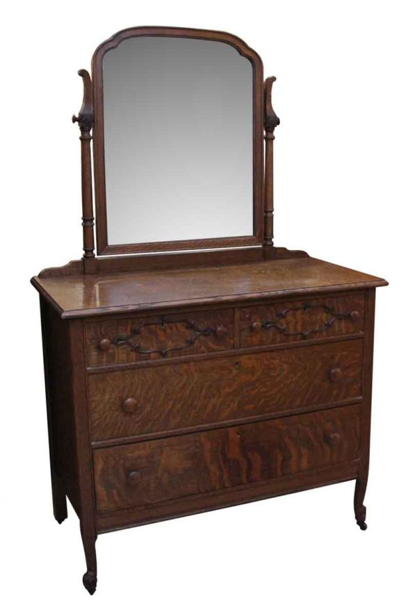 Bedroom - Quarter Sawn Oak Dresser with Mirror