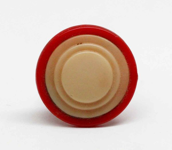 Cabinet & Furniture Knobs - Red & Tan Art Deco Style Cabinet Knob