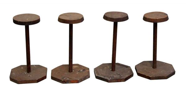 Commercial Furniture - Set of Four Wooden Hat Stands