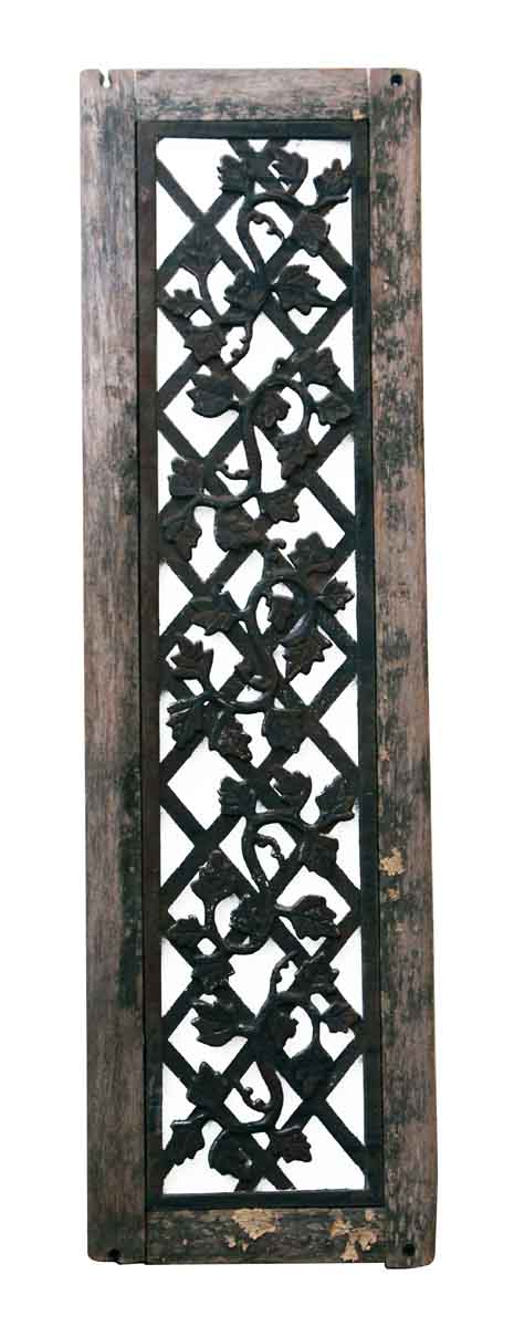 Wood Framed Cast Iron Grate Olde Good Things