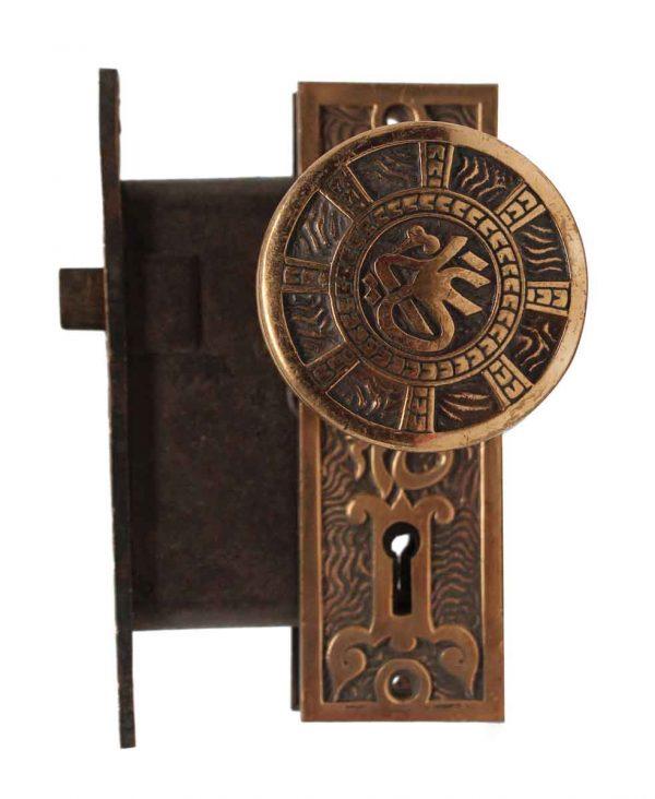Door Knob Sets - Antique Mallory Wheeler Brass Door Knob Set