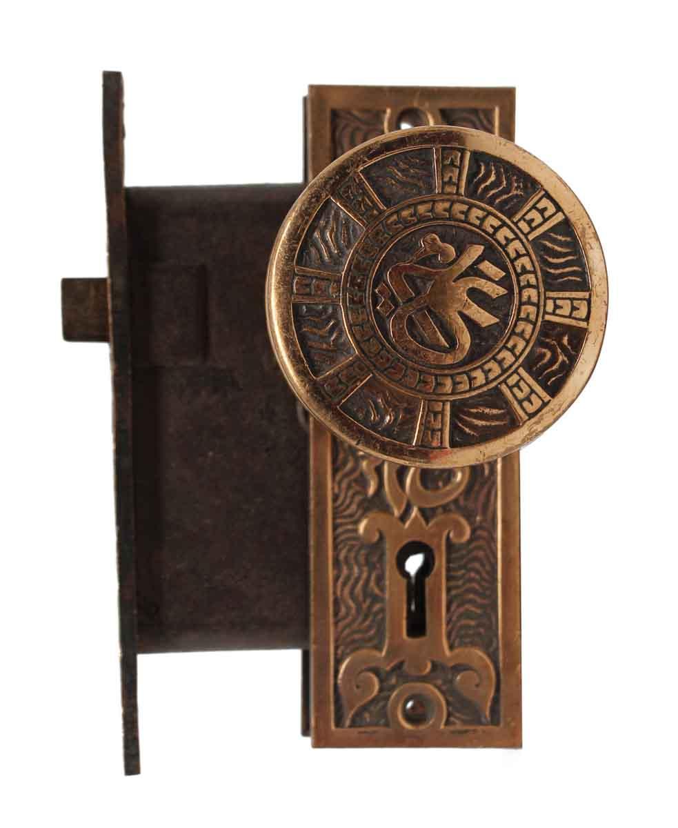 Door Knob Sets   Antique Mallory Wheeler Brass Door Knob Set