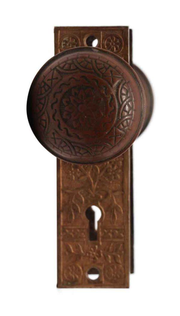 Door Knob Sets - Bronze Reading Windsor Door Knob Set