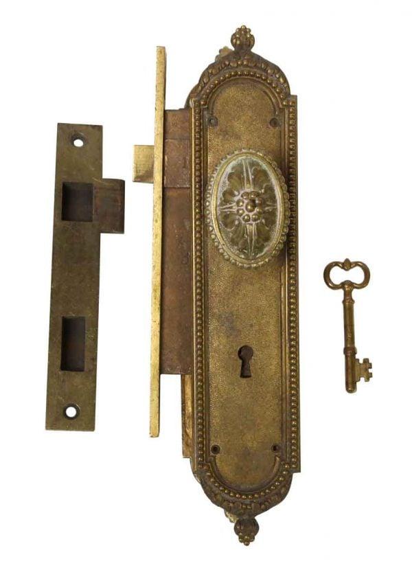 Door Knob Sets - Complete Antique Beaded Door Knob Set