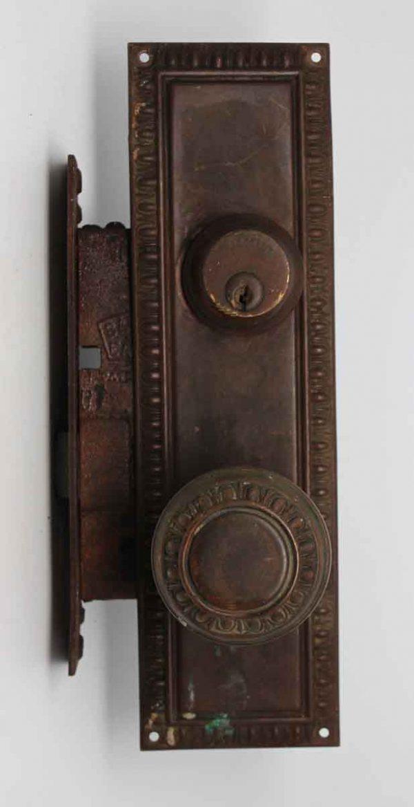 Door Knob Sets - Concentric Brass Egg & Dart Door Knob Set