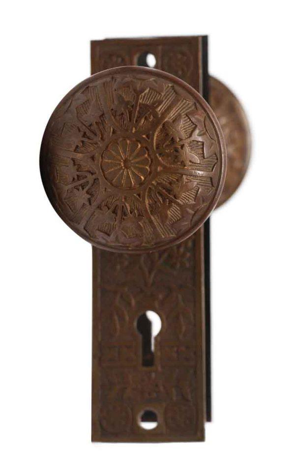 Door Knob Sets - Vernacular Sargent Bronze 6 Fold Door Knob Set