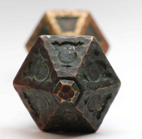 Door Knobs - Antique Arts & Crafts Bronze 6 Fold Door Knob Set