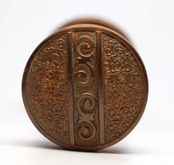 Door Knobs - Antique Two Fold Nimick & Brittan Bronze Bouquet Door Knob Set