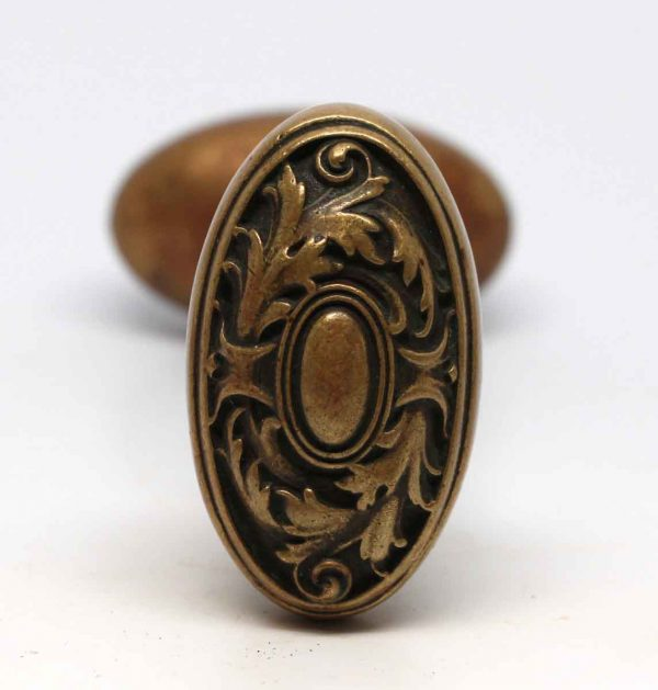 Door Knobs - Corbin French Renaissance Bronze Oval Marseilles Door Knob Set