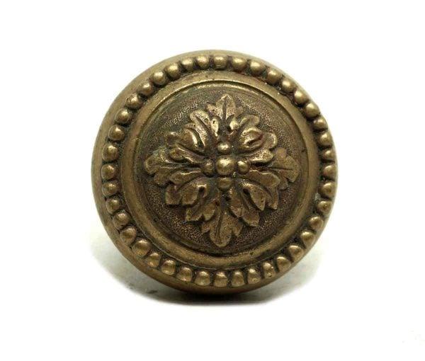 Door Knobs - Single Floral Bronze Door Knob