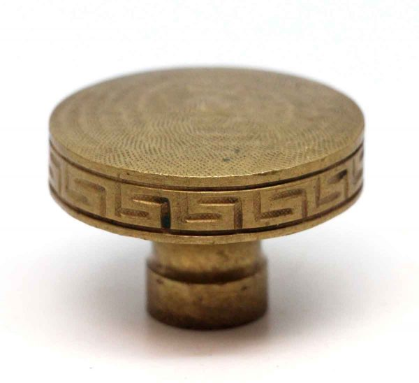 Door Knobs - Solid Brass Greek Key Door Knob