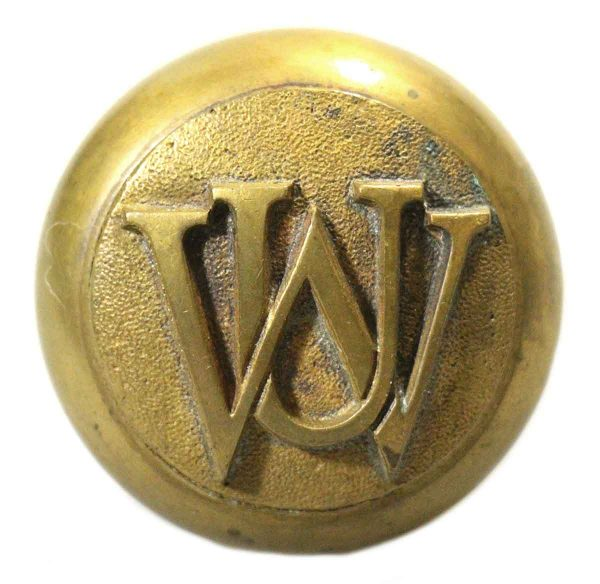Door Knobs - UW Emblematic Brass Door Knob