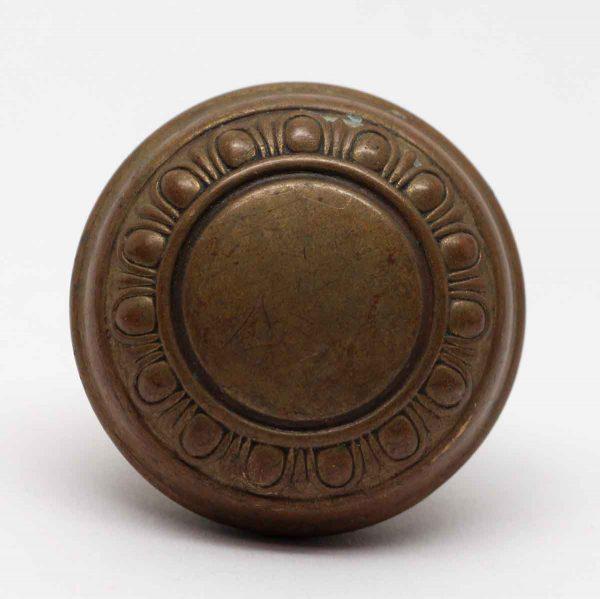 Door Knobs - Vintage Brass Concentric Egg & Dart Door Knob