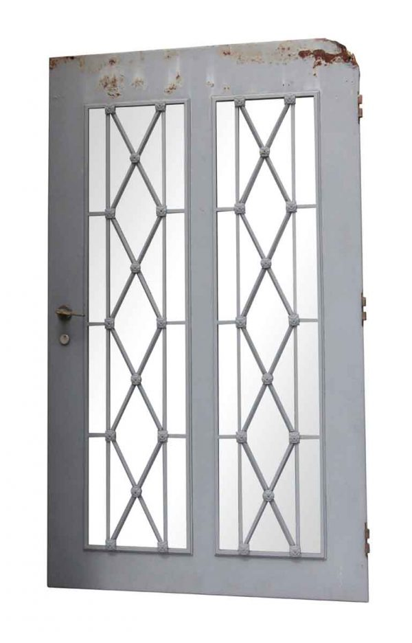 Entry Doors - Late Century Steel Doors with Diamond Lattice Design