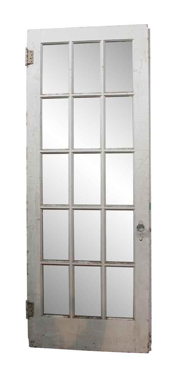 15 Glass Pane White Wooden Door Olde Good Things