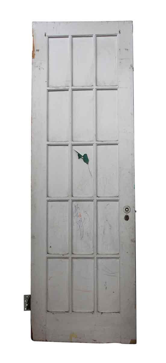 French Doors - 15 Panel White Wooden Door
