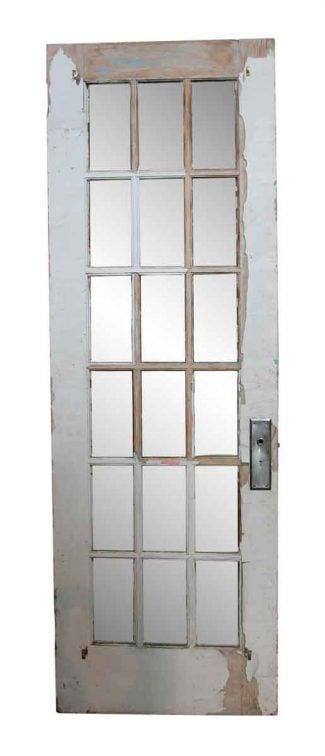 18 Glass Panel Wooden French Door