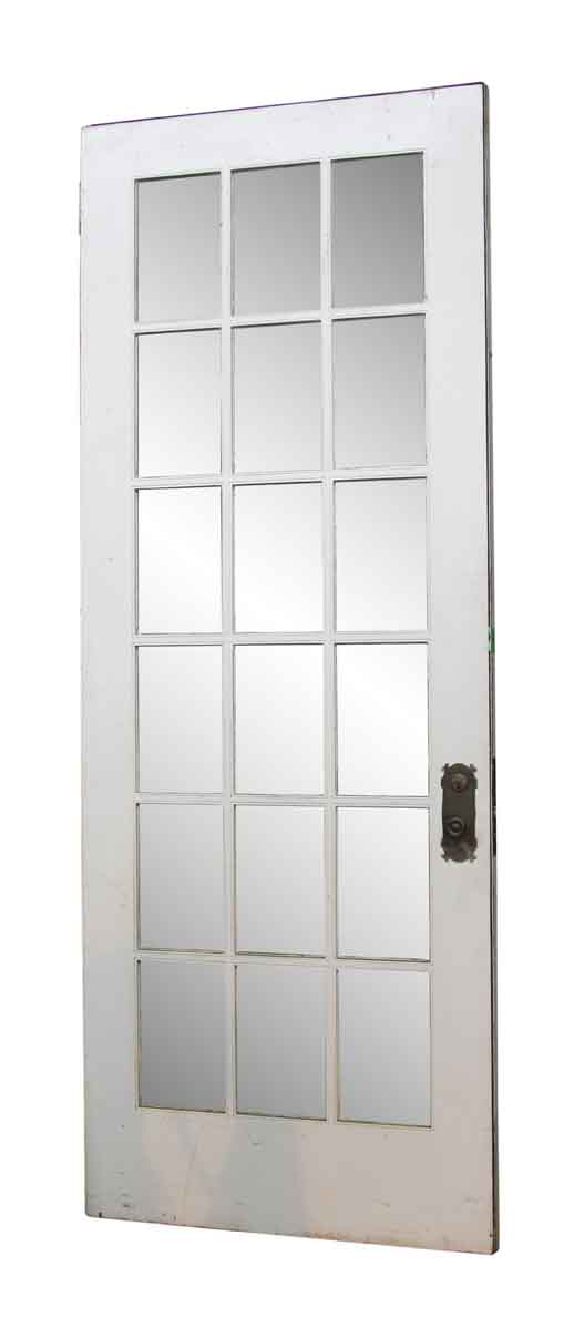 French Doors - White Door with 18 Glass Panels