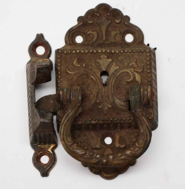 Ice Box Hardware - Antique Bronze Victorian Ice Box Latch