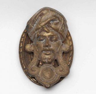 Superieur Arabic Brass Figural Head Replica Door Knocker