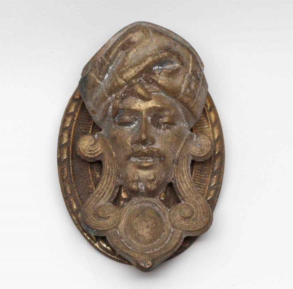 Knockers & Door Bells - Arabic Brass Figural Head Replica Door Knocker