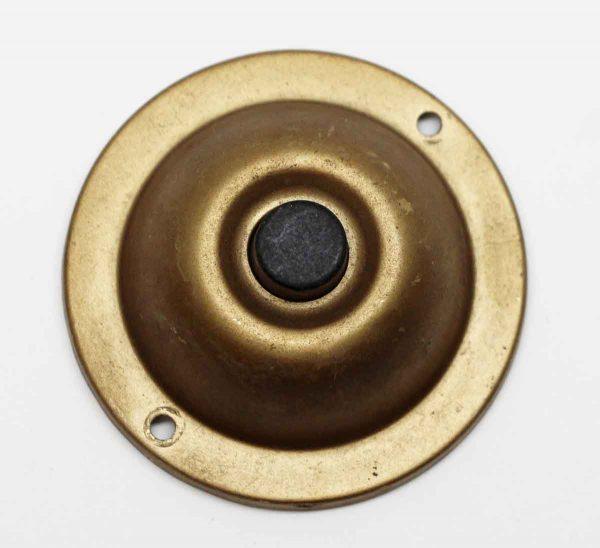 Knockers & Door Bells - Salvaged Brass Doorbell with Black Button