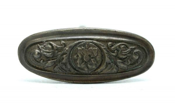 Levers - Oval Floral Single Bronze Door Knob