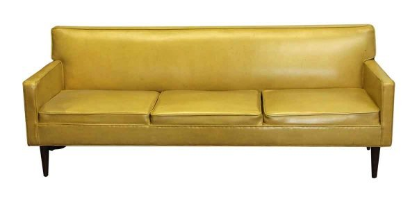 Living Room - Mid Century Mustard Yellow Couch