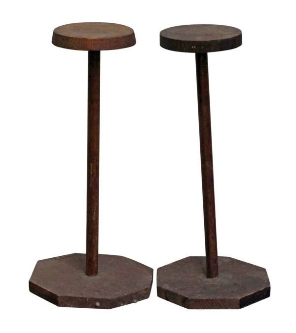 - Pair of Wooden Hat Stands
