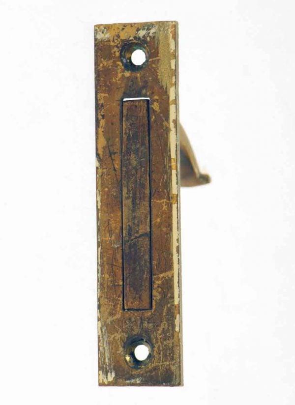 Pocket Door Hardware - Hidden Bronze Pocket Door Pull