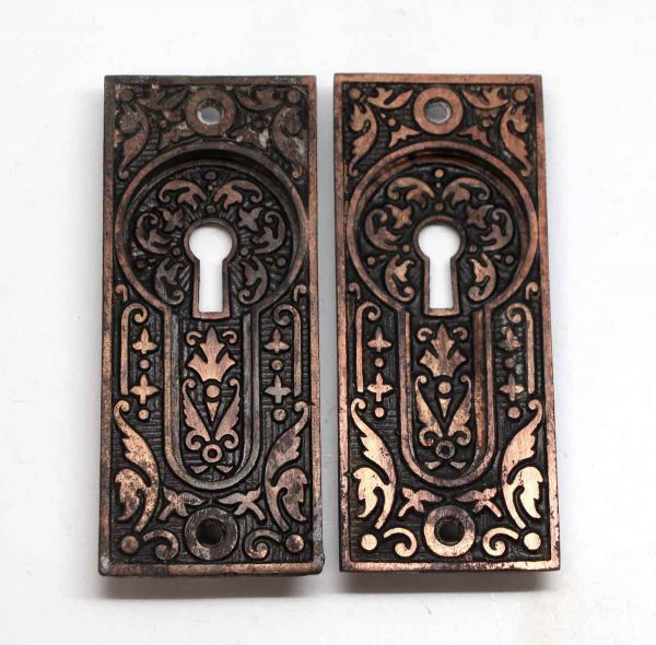 Pocket Door Hardware - Pair of Cast Iron Aesthetic Sargent Pocket Door Plates