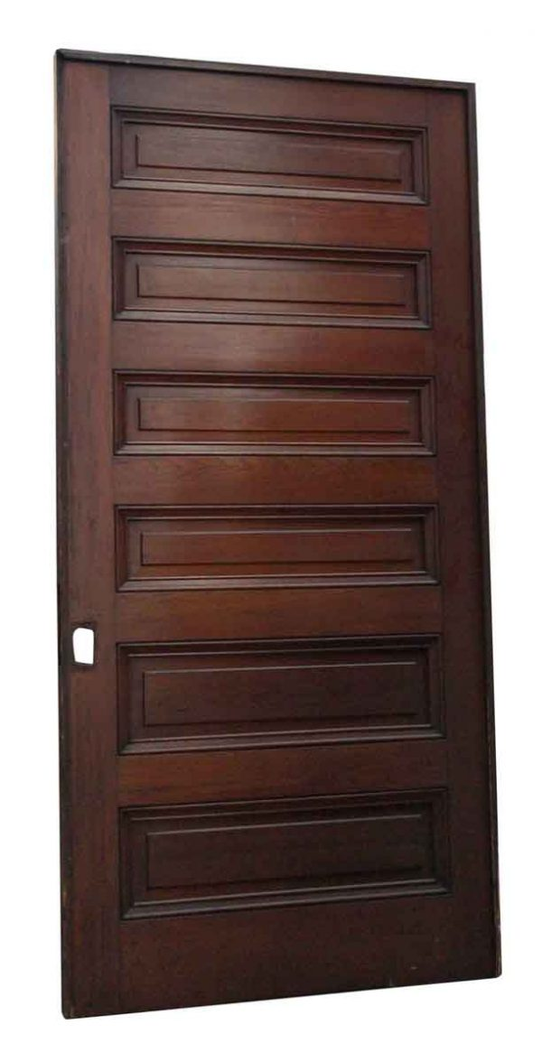 Pocket Doors - Antique Six Panel Pocket Door