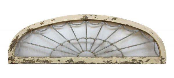 Reclaimed Windows - Georgian Leaded Glass Arched Fan Transom