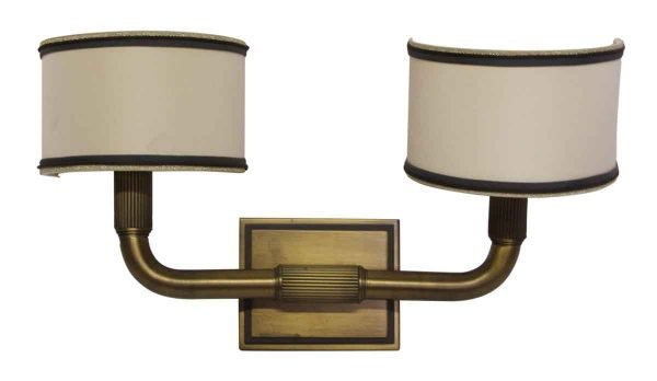 Sconces & Wall Lighting - Modern Bronze Sconce with Shades from the Waldorf Astoria