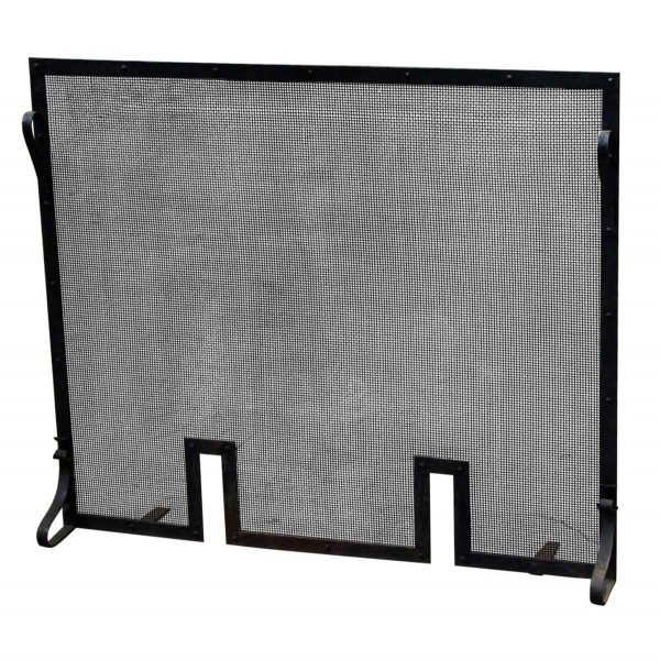 Screens & Covers - Black Cast Iron Fire Screen