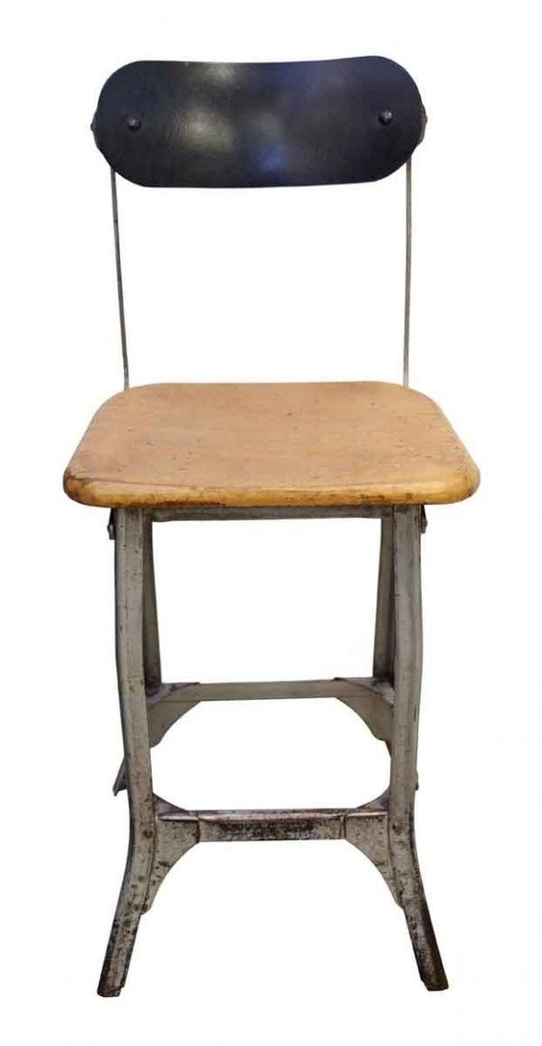 Seating - Antique Metal & Wood Stool