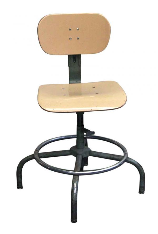 Seating - Industrial Adjustable Swivel Stool with Back