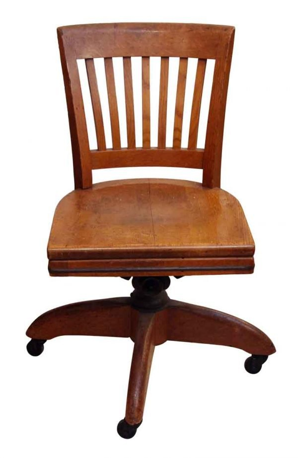 Seating - Oak Vintage Office Rolling Chair
