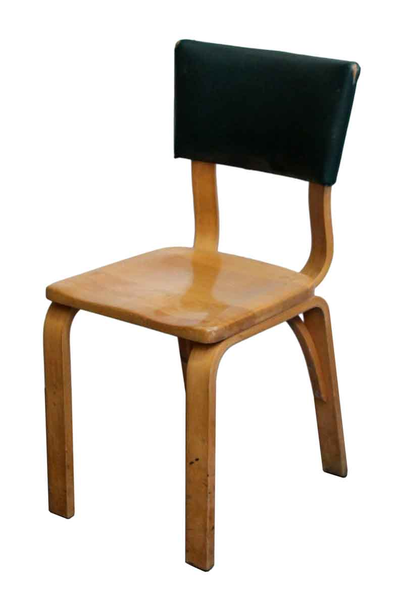 Seating   Thonet Bentwood Chair With Green Vinyl Back