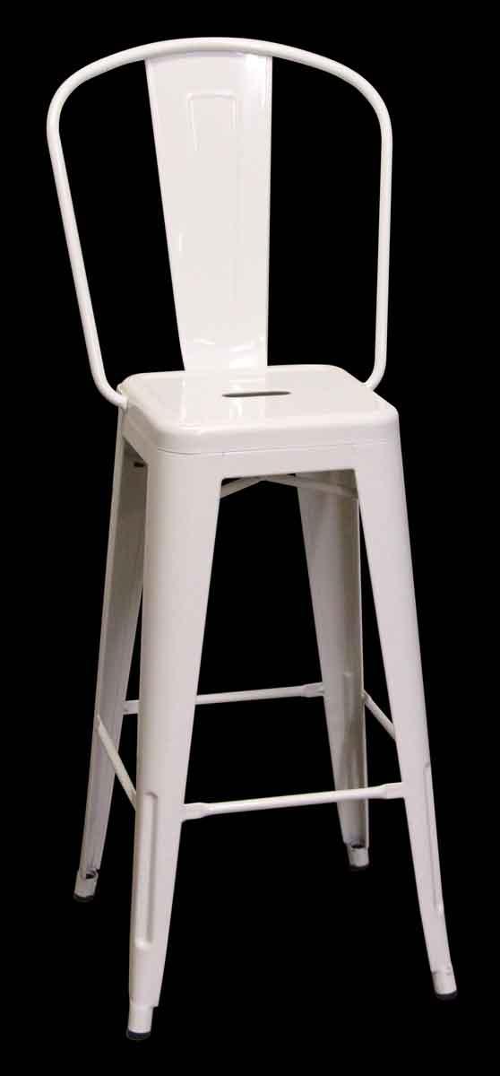 Seating - White Metal Counter Height Bar Stool