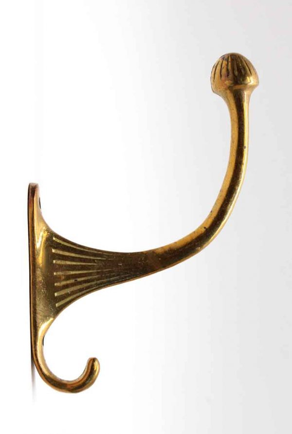 Single Hooks - Polished Brass Acorn Hook