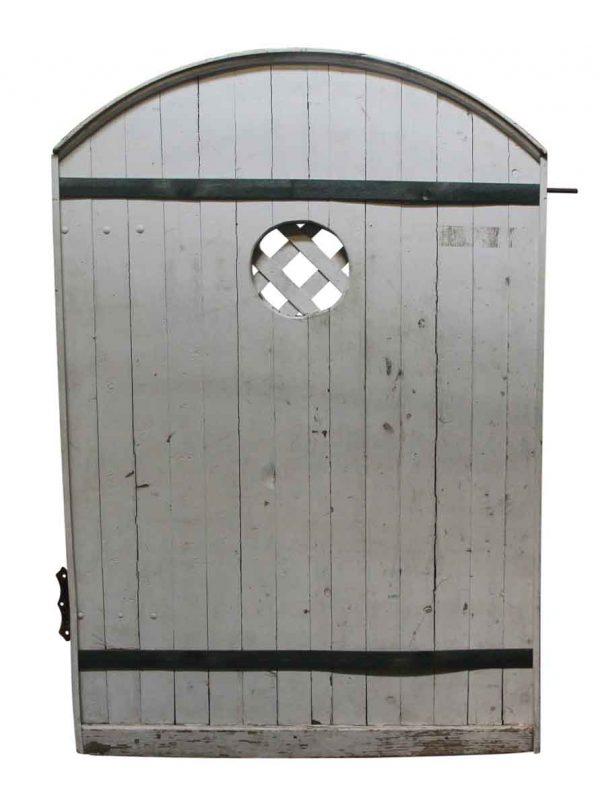 Specialty Doors - Small Arched Barn Door with Lattice Window