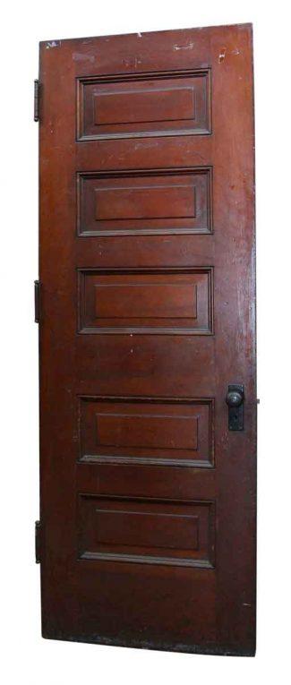 Five Panel Wooden Dark Tone Door