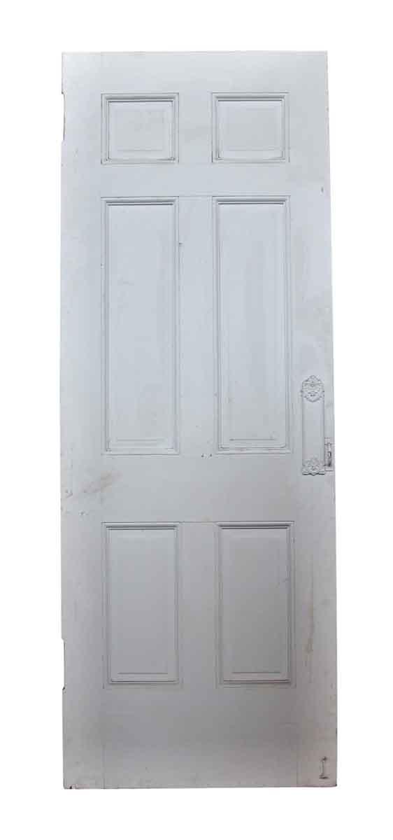 Standard Doors - Six Panel White Wooden Antique Door