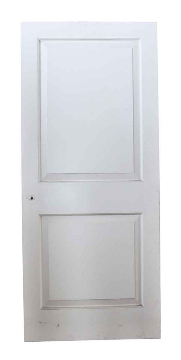 Standard Doors - White Wooden Door with Two Beveled Panels