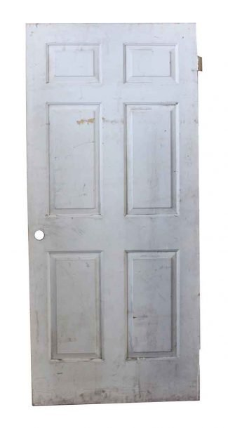 White Wooden Six Panel Vintage Door