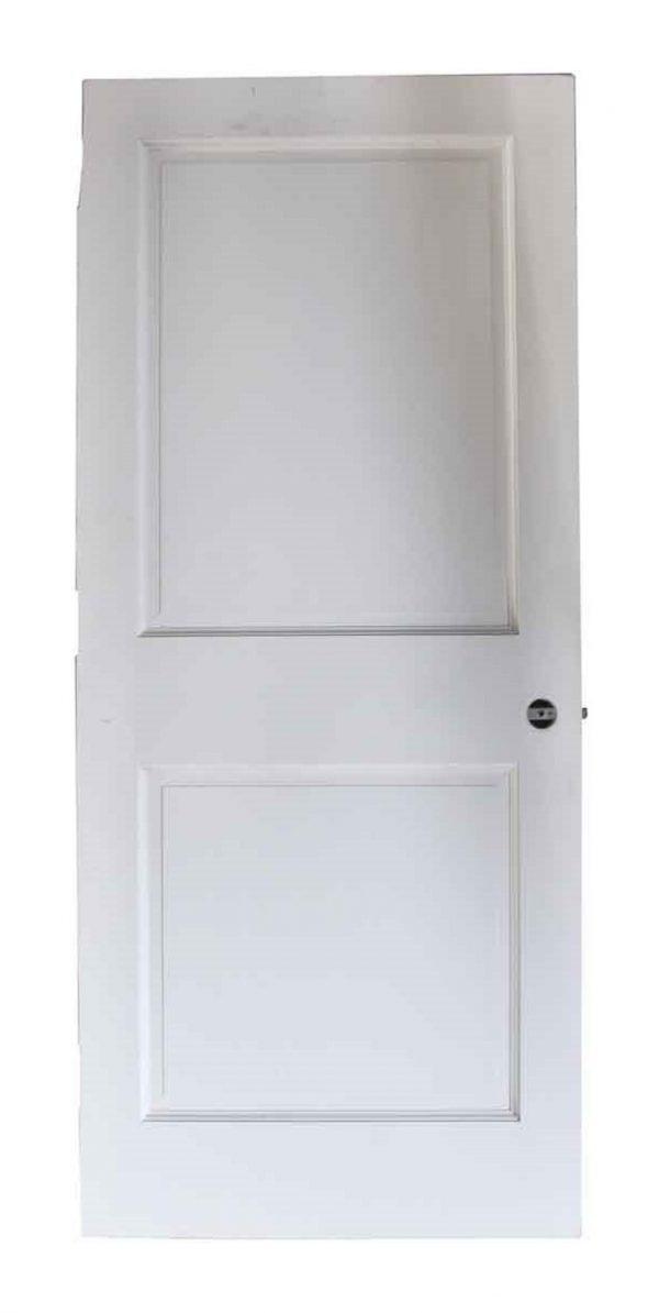 Standard Doors - Wide White Two Panel Door