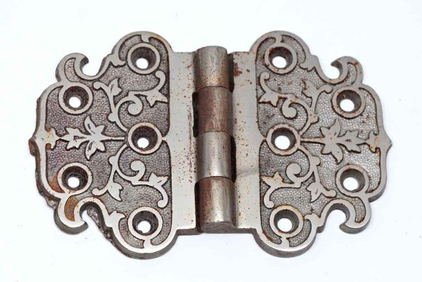 Cabinet & Furniture Hinges - Chrome Over Cast Iron Decorative Hinge