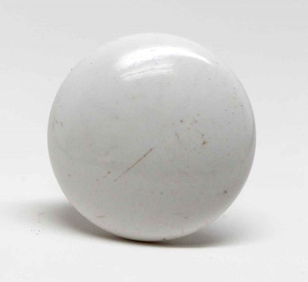 Cabinet & Furniture Knobs - Single White Porcelain Drawer Knob
