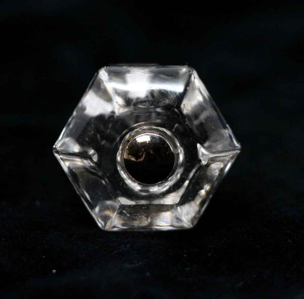 Cabinet & Furniture Knobs - Vintage Clear Glass Cabinet Drawer 1.25 in. Knob